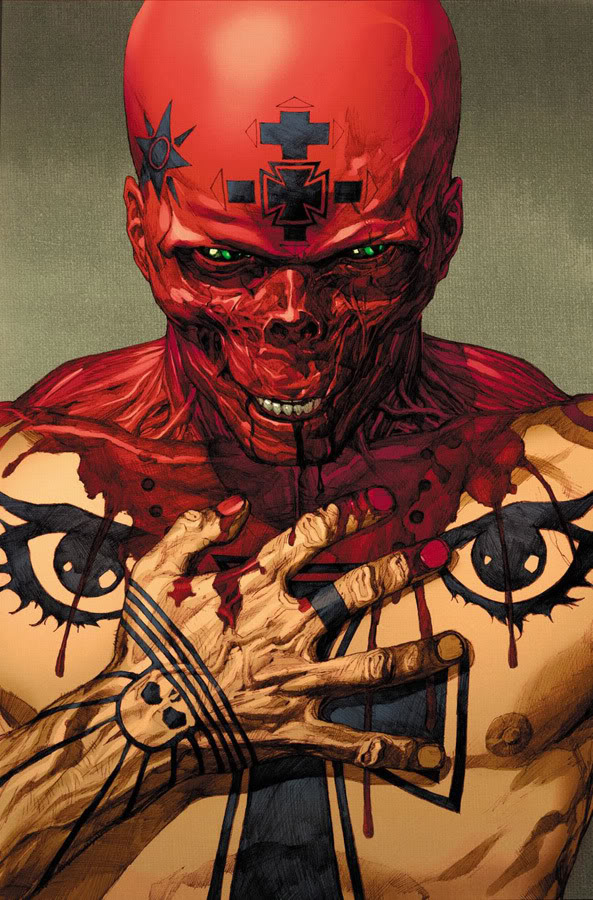 Leinil-Yu-Art-Ultimate-Red-Skull